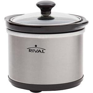 Rival .65-Quart Mini Slow Cooker, Stainless Steel