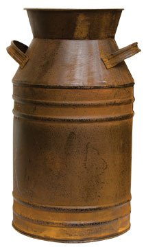 Large Old Fashioned Rusty Milk Can Black Distressing Country Primitive Kitchen Décor 0