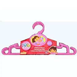 "Dora The Explorer Hangers - 12"" Children Cloth Hangers - 4 Pack"