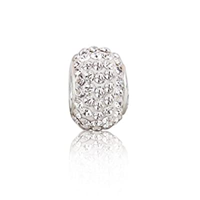 Bling Jewelry 925 Sterling Silver White Swarovski Crystal Bead Fits Pandora Pugster: Bling Jewelry: Jewelry