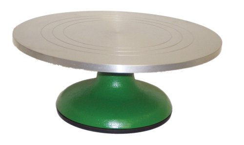Johnson-Rose Aluminum Cake Decorating Stand, Green Enamel