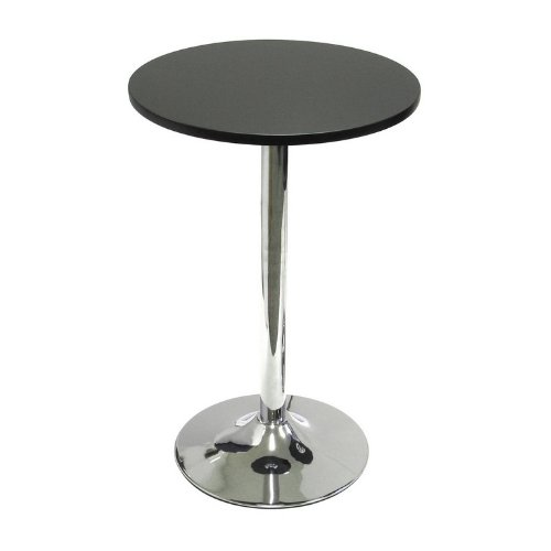 "Winsome Spectrum 20"" Round Casual Bistro Table in Black and Chrome Finish"
