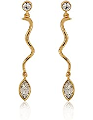 Estelle Gold Plated Drop Earring With Crystals (533/702)