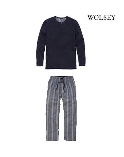 Mens Wolsey Designer Long Pyjama nightwear/ lounge wear set