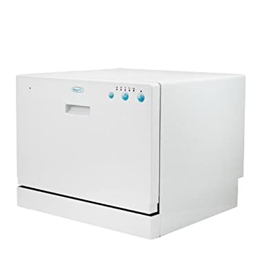 NewAir ADW-2600W 6 Place Setting Portable Countertop Dishwasher With ...