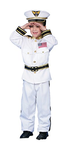 Boys Navy Admiral Kids Child Fancy Dress Party Halloween Costume