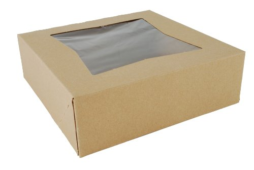 Southern Champion Tray 24013K Kraft Paperboard Window Bakery Box, 8