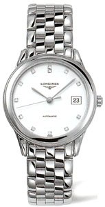 Longines Watches Longines Flagship with Diamond Hour Markers Automatic Men's Watch by Longines