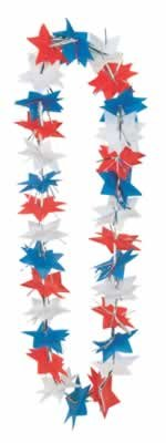 Patriotic Star Party Lei (red, white, blue) Party Accessory  (1 count)