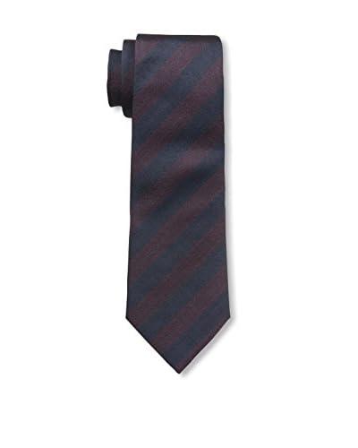 Valentino Men's Stripe Woven Tie, Navy/Plum