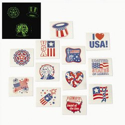 4th of July Patriotic Tattoos (6 dozen) - Bulk