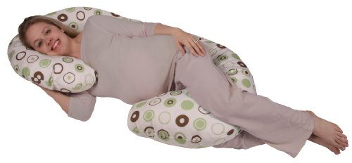 Organic Smart Snoogle Chic - Snoogle Total Body Pregnancy Pillow with 100% Organic Cotton Easy On-off Zippered Cover