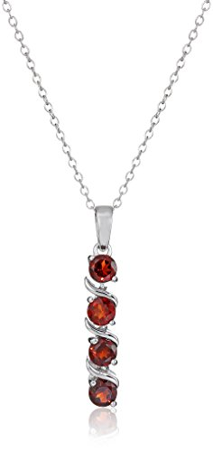 sterling-silver-garnet-pendant-necklace