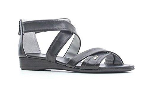 Sandalo bassi NeroGiardini in pelle nero con lampo posteriore (36)