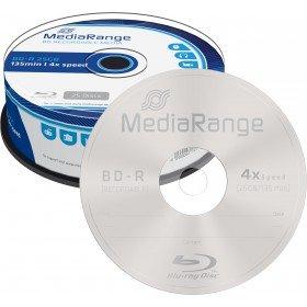25 BD-R Blu Ray vergini Mediarange 25GB 120Min
