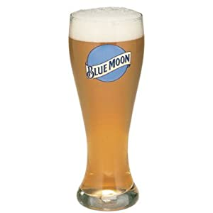 Blue Moon 16 Oz Pilsner Beer Glass Set of 2 by Blue Moon Brewing Company