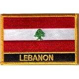 Parche Bordado Bandera Líbano - 9 x 6 cm
