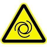 Aufkleber Warnzeichen Warnung vor automatischem Anlauf 10cm sl Folie