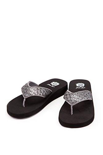 Silver Platform Flip Flops