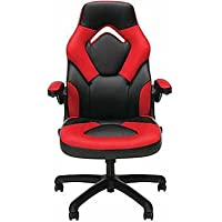 Essentials by OFM Racing Style Leather Gaming Chair (Red/Blue)