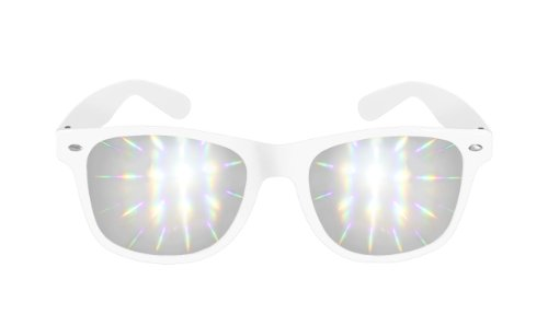 Diffraction Glasses - High Quality Effect - Rave Accessories - White