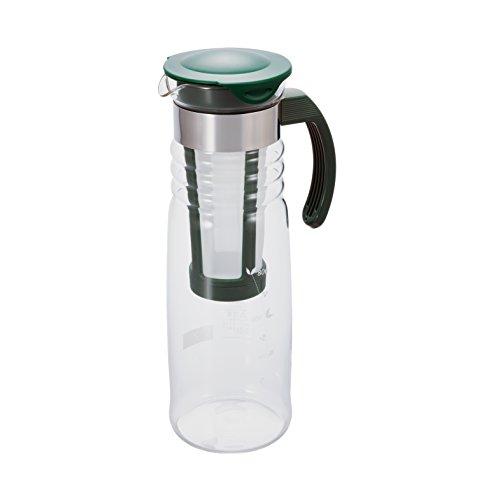 ハリオ かご網付き 水出し茶ポット 1,200ml ダークグリーン HCC-12DG