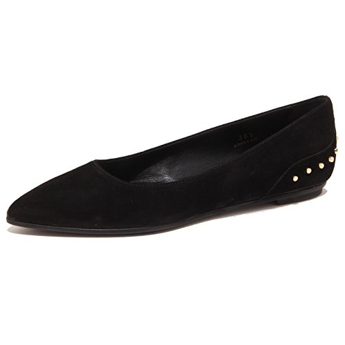 3268P ballerina donna TOD'S nero scarpa shoe suede woman [39]