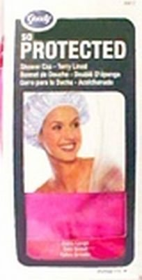 GOODY TERRY LINED SHOWER CAP ASSORTED COLORS (3-PK)