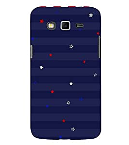 Stars in Blue Wall 3D Hard Polycarbonate Designer Back Case Cover for Samsung Galaxy Grand Neo Plus :: Samsung Galaxy Grand Neo Plus i9060i