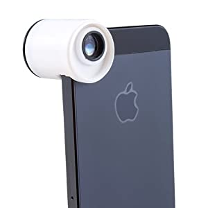 AGPtek Teog Quick-Connect 3-in-1 Lens (180 Degree Fisheye, Wide Angle, Macro) For Apple iPhone 5