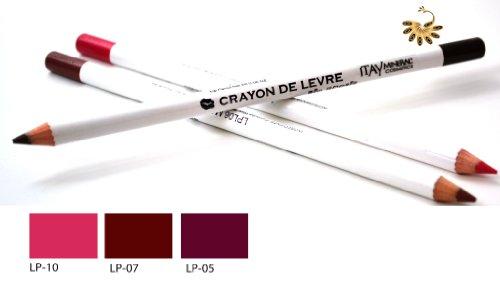 Itay Mineral Cosmetics Set of 3 Lip Liner Pencils (7,5,10) + Cala Dual Pencil Sharpener