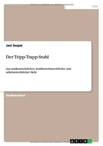 der tripp trapp stuhl jael szajak grin verlag allemand 28 pages broche book ebay. Black Bedroom Furniture Sets. Home Design Ideas