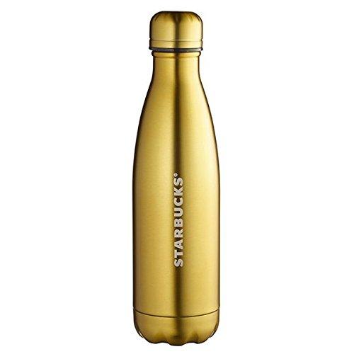 Starbucks (スターバックス) × S'well (スウェル) 海外限定 スリム ハンディ ステンレス ウォーター ボトル 水筒直飲み 『METALLIC GOLD』 17oz (約502ml) [並行輸入品]