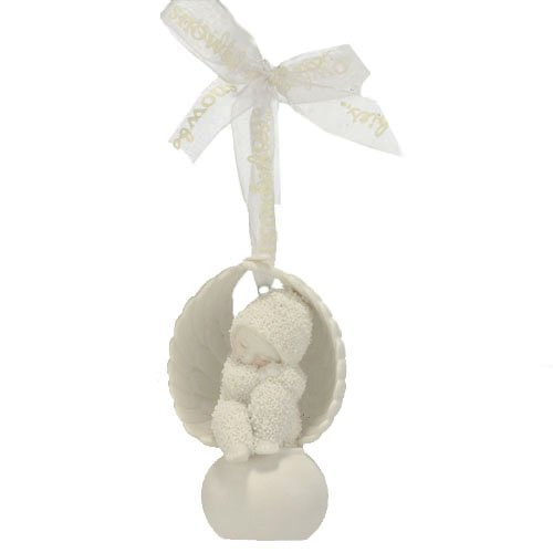 Department 56 Snowbabies by Kristi Jensen Pierro Angel to Look After You Ornament, 2.76-Inch
