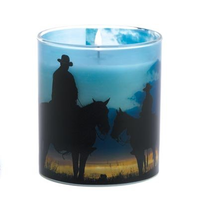 Twilight Trail Cowboy Bamboo Hyacinth Scented Candle