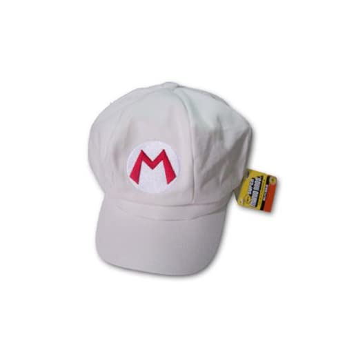 Super Mario Bros Cosplay Cap Hat cap white Color