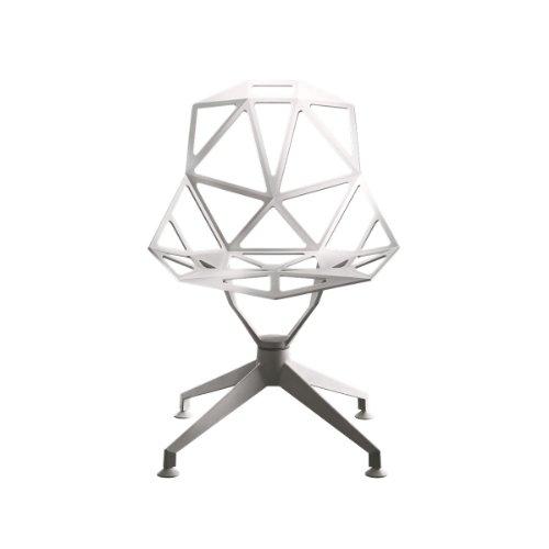 Magis Chair One 4Star Drehstuhl, weiß lackiert für den Außenbereich geeignet