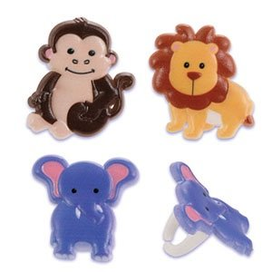 Zoo Animal Cupcake Rings - 24 pcs by Bakery Supplies