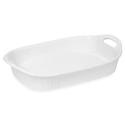 CorningWare French White III 3-Quart Oblong Casserole Dish with Sleeve (Corning Ware Au Gratin compare prices)
