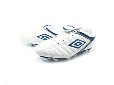 Umbro Denstone KTK Fg White-blue Soccer Cleats (11)
