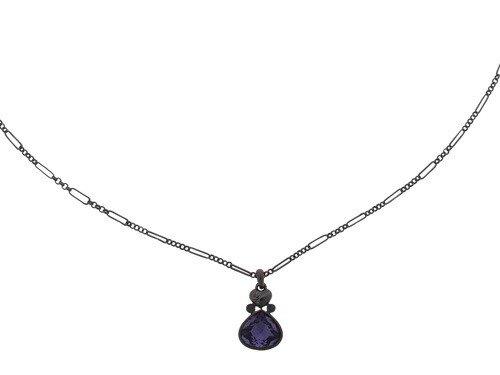 GUESS Damen-Halsband Edelstahl rhodiniert Kristall Zirkonia Pear Pdt violett UBN91103 thumbnail