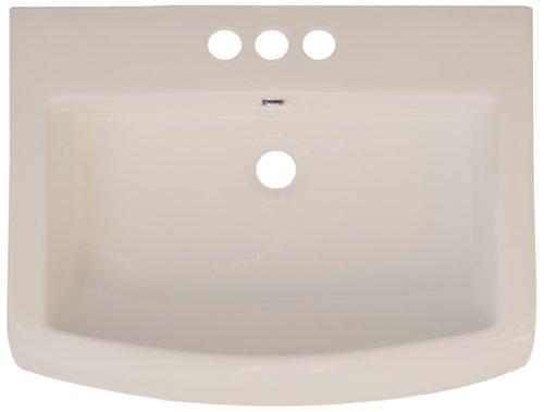 American Imaginations 415 23-Inch by 18-Inch Biscuit Ceramic Top with 4-Inch Centers