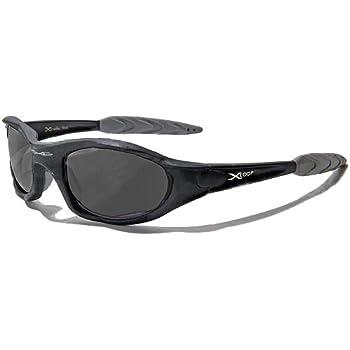 X-Loop Lunettes de Soleil - Sport - Cyclisme - Ski - Conduite - Moto - Plage / Mod. 2044 Noir Mat / Taille Unique Adulte / Protection 100% UV400