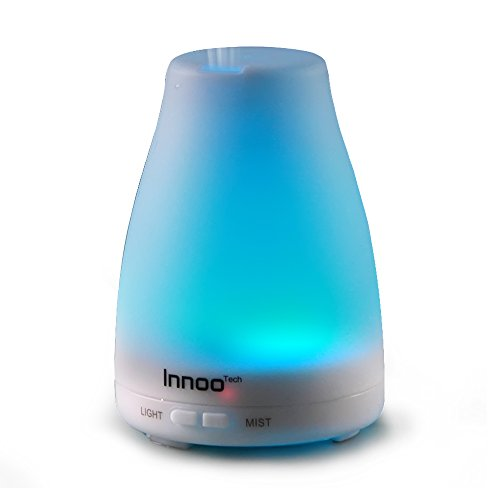 Innoo Tech Oil Diffuser with 7 Changing Color LED Lights with eBooks - 100 ml (Air Freshener Atomizer compare prices)