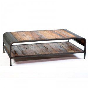 Table basse industrielle les bons plans de micromonde - Table basse palette industrielle vintage ...