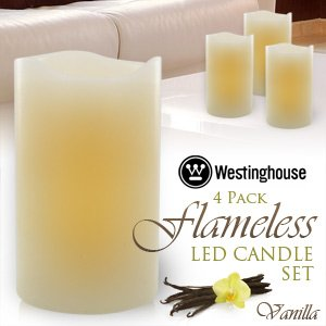 Westinghouse: Flameless LED Candle 4 Pack – Vanilla Scent & 5hr Timer