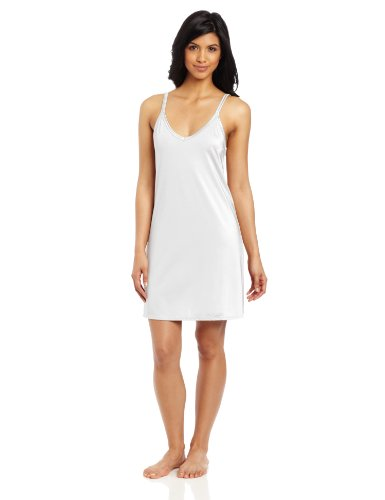 Vanity Fair Women's Tailored Full Spin Slip, Star White, Size 38, 18 Inch