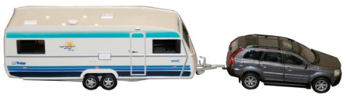 Prime Products 27-0016 Porsche Cayenne and Travel Trailer Toy