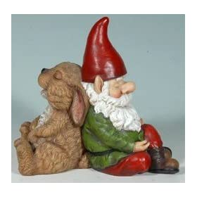 Snoozing Gnome + Bunny Friends Garden Statue