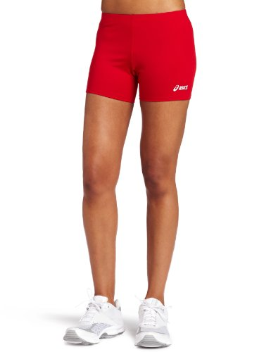 ASICS Women's 4 Court Short, Red, Small